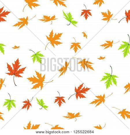 Maple Leaves. Seamless texture. Autumn leaves texture for background image on websites e-mails.