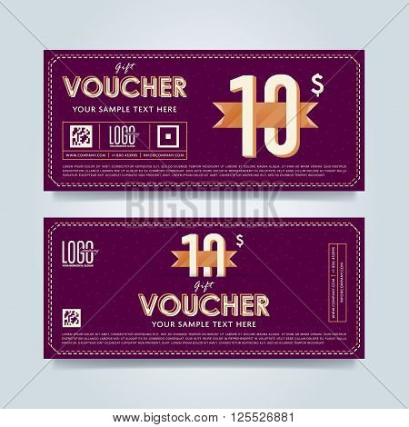 Special Offer Voucher. Layout Voucher. Voucher Background.  Coupon Layouts