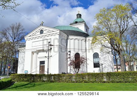 Hameenlinna Finland. Beautiful Old City Lutheran Church