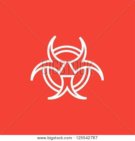 Bio hazard sign line icon.