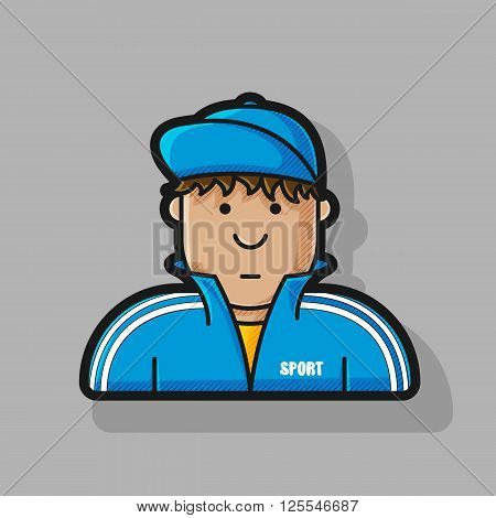 icon guy in a tracksuit and baseball cap