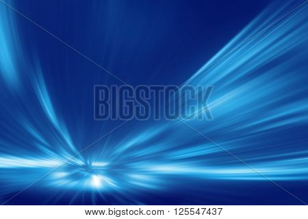 Abstract toned image of speed motion in tunnel.