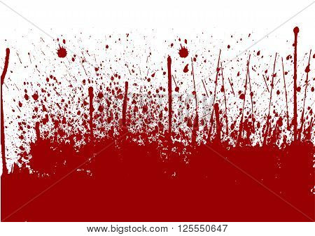 abstract splatter painted red color background. illustration vector design