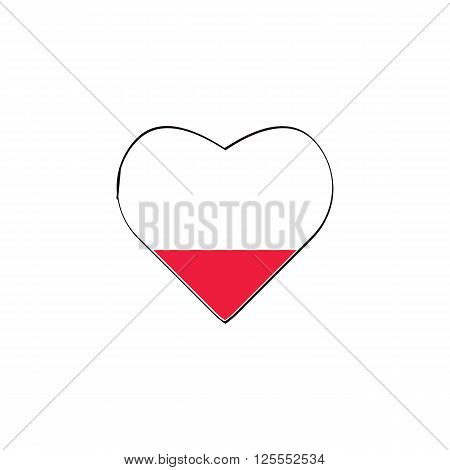 Unfilled red liquid of love in big heart isolated on white background