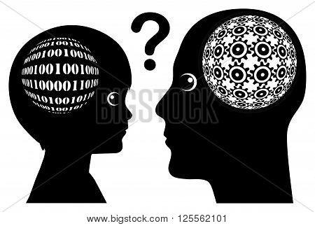 Gap in Knowledge. Digital Native versus Digital Idiot poster
