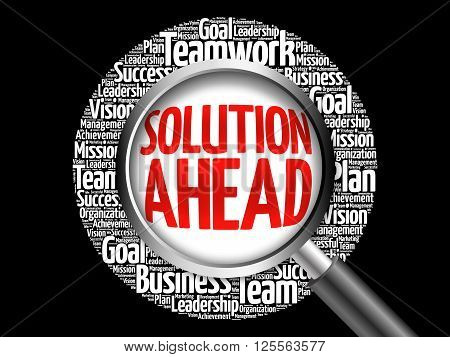 Solution Ahead Word Cloud