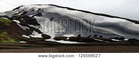 Landscape in Iceland. Fantastic nature of the Arctic Circle