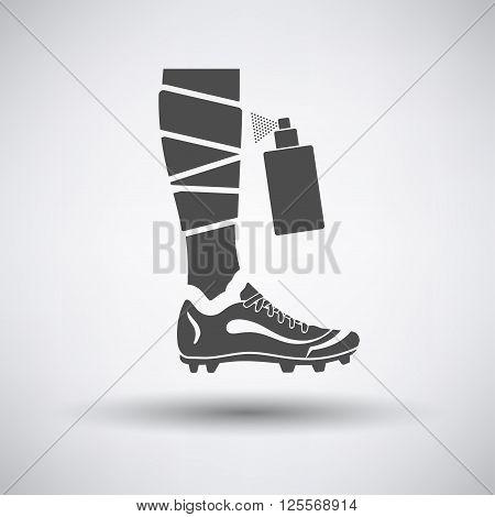 Soccer Bandaged Leg With Aerosol Anesthetic Icon