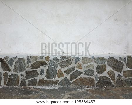 Wall With Stones Finish