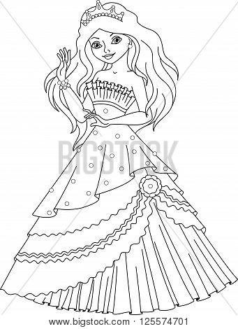Mermaid princess in a beautiful ball dress