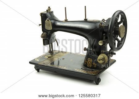 portrait of a old italian sewing machine