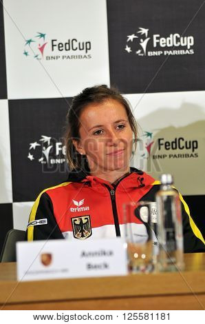 Tennis Player Annika Beck During A Press Conference