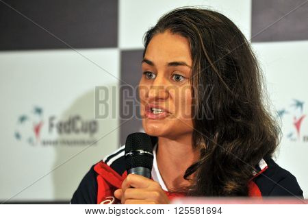 Romanian Tennis Player Monica Niculescu During A Press Conference