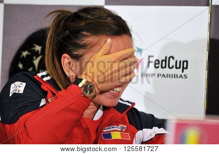 Romanian Tennis Player Simona Halep During A Press Conference