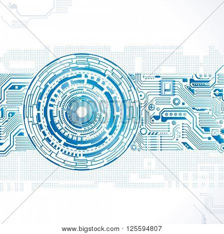 Abstract technology circuit engineering background.
