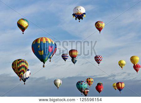 ALBUQUERQUE, NM OCTOBER 4Hot air balloons at Albuquerque, New Mexico Hot Air Balloon Festival October 4, 2008 Albuquerque, NM  October 4, 2008