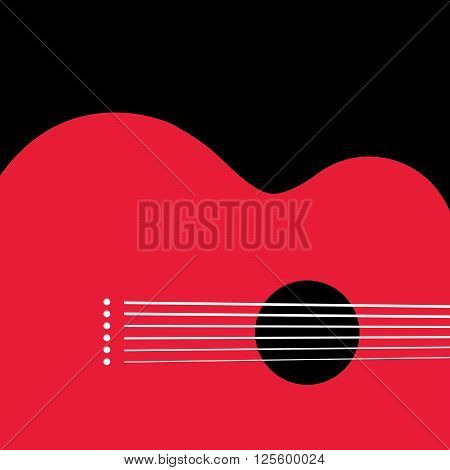 Unusual guitar graphic ideal for music gig announcements with space for text