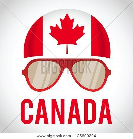 Head band and sunglasses with Canada insignia vector illustration