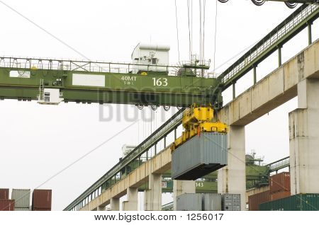Sea Freight Cargo Container Yard