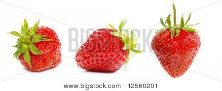 Very detailed strawberries XL. Three different angles.