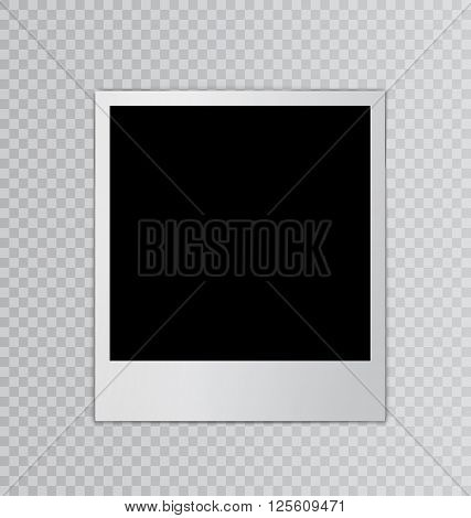 Single photo frame for design scrapbook space for your text transparent background - vector