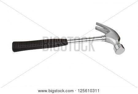 New steel hammer isolated on white background