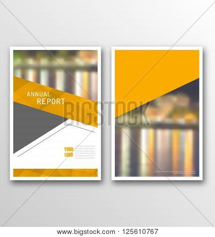 Illustration Brochure Template Layout, Cover Design Annual Report, Design of Magazine or Newspaper - Vector