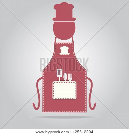 Apron with chef sign cooking icon sign vector illustration