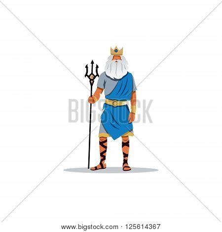 Mythological Greek guardian god of the sea, rivers, floods, droughts, earthquakes and horses.