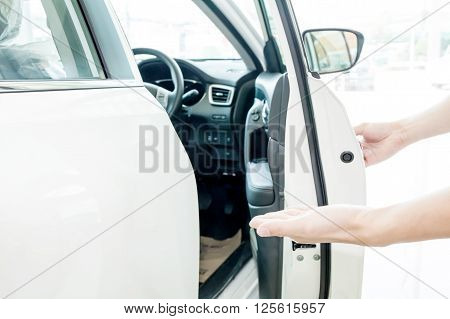 Human Hands Welcoming People To Go Chauffeur Seat