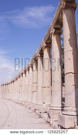 Amman, Jordan - Ruins Of The Ancient Jerash, The Greco-roman City Of Gerasa In Modern Jordan