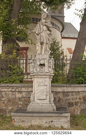 It is image of religious stone statue.
