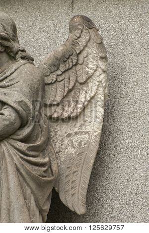 It is image of stone angel statue.