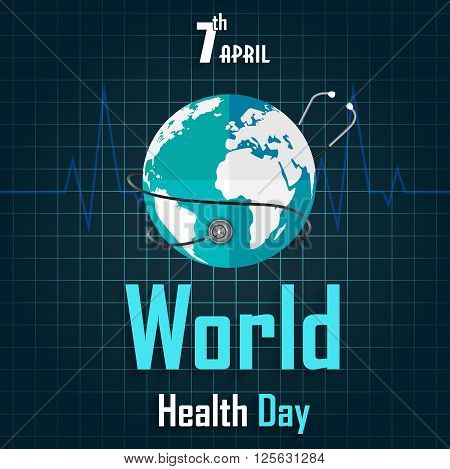 Illustration of World Health Day Greeting stock