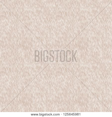 Vector Short Beige Fur Background. Seamless Pattern for Print Design. Animal Skin. Digital Illustration.