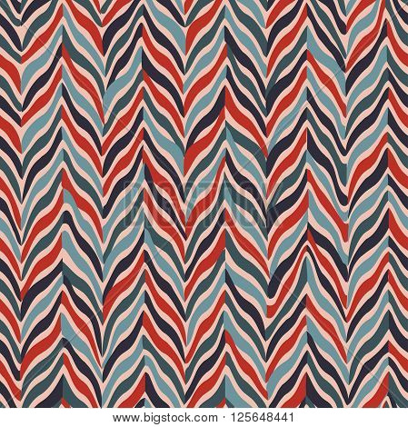 Seamless parquet pattern. Vector illustration. Red, gray.
