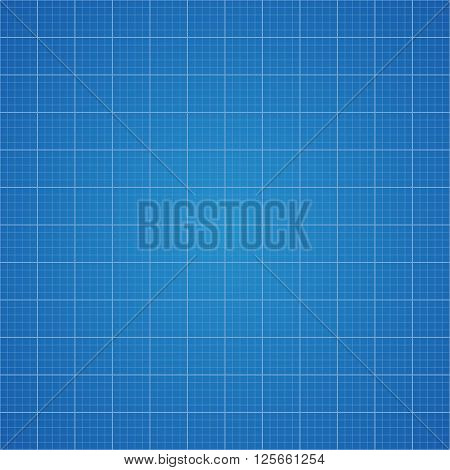 Blueprint grid background. Graphing paper for engineering in vector illustration