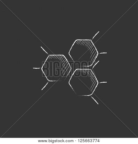 Chemical formula. Drawn in chalk icon.