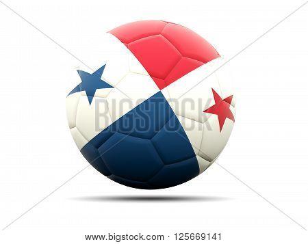 Football With Flag Of Panama