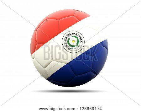 Football With Flag Of Paraguay