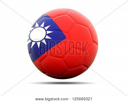 Football With Flag Of Republic Of China