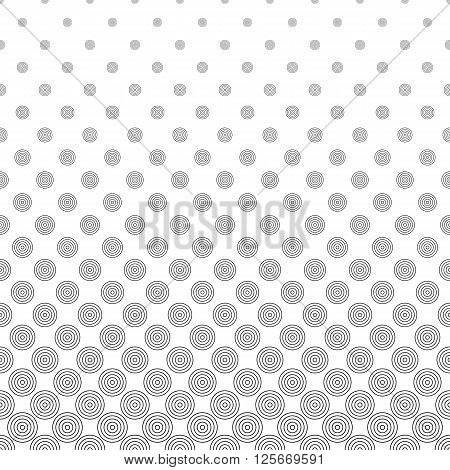 Seamless monochromatic abstract vector circle pattern background