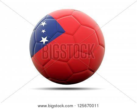 Football With Flag Of Samoa