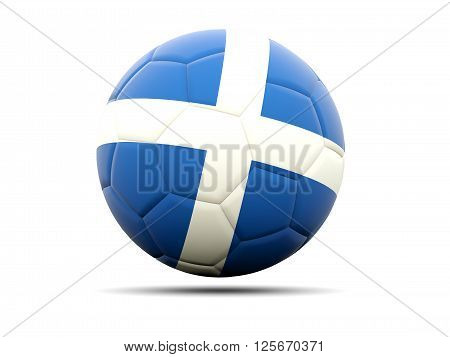 Football With Flag Of Scotland