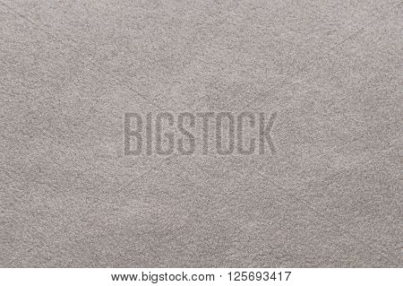 Grey fleece fabric background texture close up