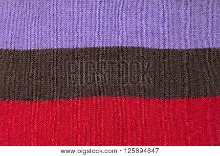 Striped woolen scarf background texture close up