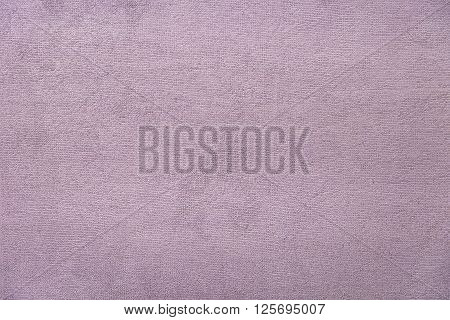 Light violet towel background texture close up
