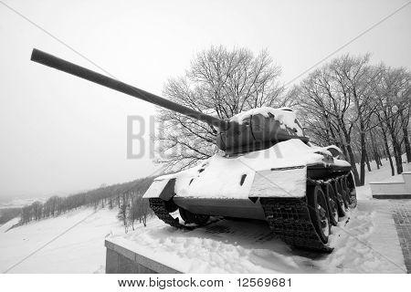 Old Frozen Russian Wwii Tank