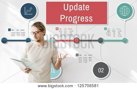 Update Progress Improvement Proceed Information Concept
