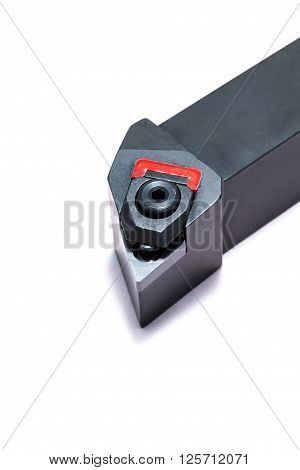 Machine cutter tool with metal holder for cnc machine for heavy industry poster